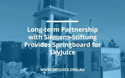 Long-term Partnership with Siemens-Stiftung Provides Springboard for SkyJuice