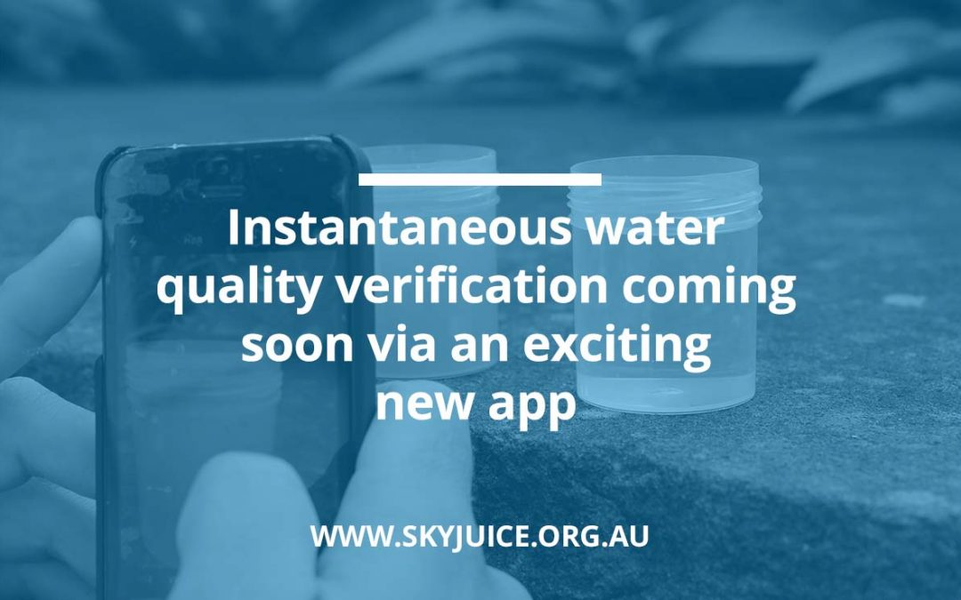 Instantaneous water quality verification coming soon via an exciting new app