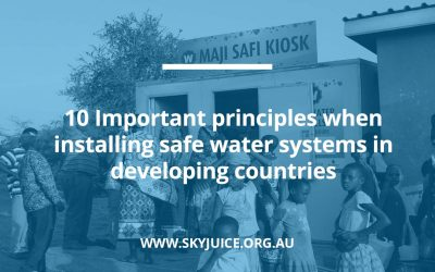 10 Important principles when installing safe water systems in developing countries