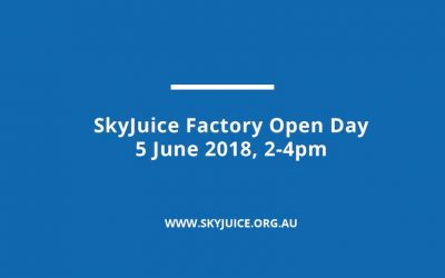 SkyJuice Factory Open Day: 5 June 2018, 2-4pm
