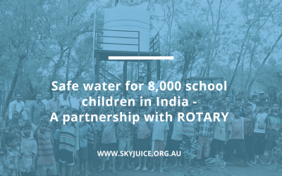 Safe water for 8,000 school children in India – A partnership with ROTARY