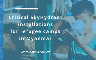 Critical SkyHydrant installations for refugee camps in Myanmar